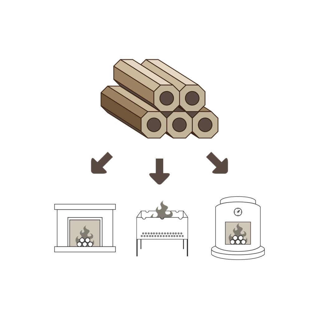 Holzbrickets-brennstoff